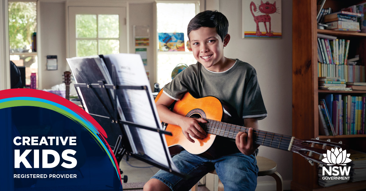 creative kids guitar teacher
