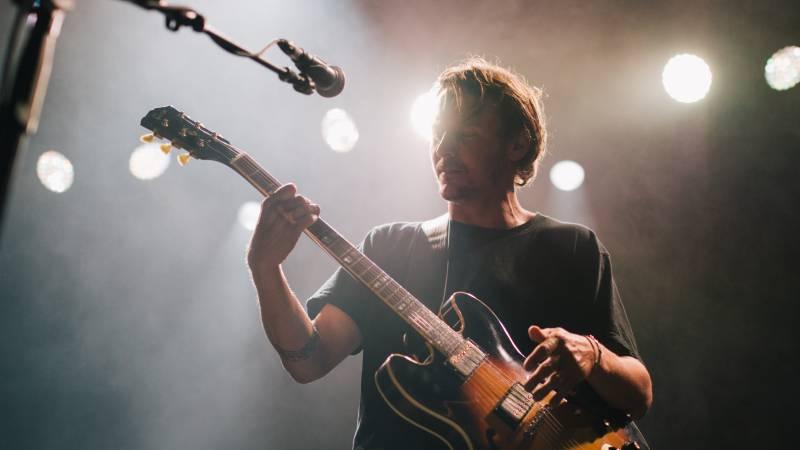 left guitarist live